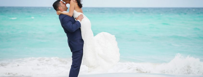 South Florida Beach Bride and Groom