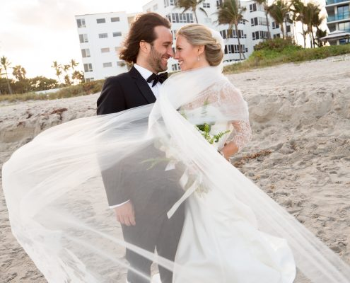 Palm Beach Bride and Groom